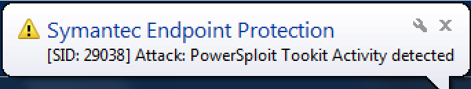 Powerview Caught By Symantec Endpoint Protection